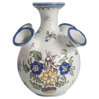 Decor Moustiers Fait Main France HP Bud Vase