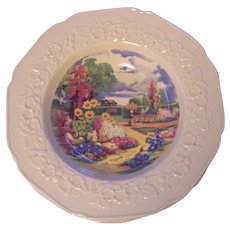 4 Crown Ducal Bowls Garden Scene  Gainsborough