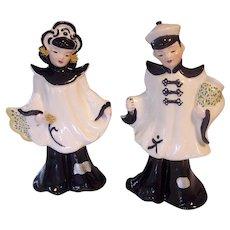 Florence Ceramics Calif Asian Pair Figurines