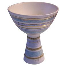 Sascha Brastoff California Pottery Pedestal Bowl Vase