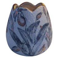 Textured Italian Pottery Floral Vase Mid Century