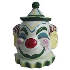 Sierra Vista California Clown Cookie Jar 1940's-50's Pottery