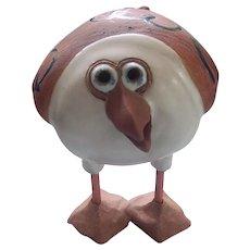 Art Messier Whimsical Stoneware Bird Figurine