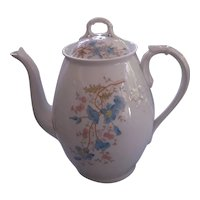 Signed Austria Floral china Coffee Pot