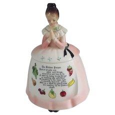 Enesco Kitchen Prayer Lady Cookie Jar