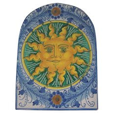 Fratantoni Italian Pottery Sun Tile First Stone Plaque