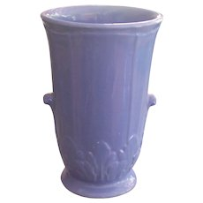 American Art Pottery Vase Periwinkle Blue