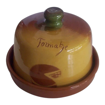 French Style Pottery Cheese Dome Formatge / Fromage Keeper