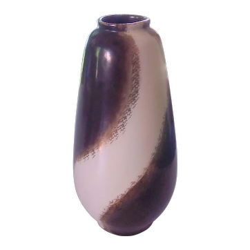 Carstens West Germany Mid Century Gunmetal Pottery Vase
