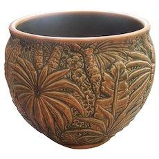 Weller Marvo Burnt Orange & Green Pottery Jardiniere