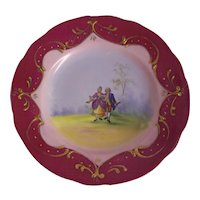 Austria Porcelain Courting Couple Plate