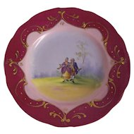 Austria Porcelain Courting Couple Plate