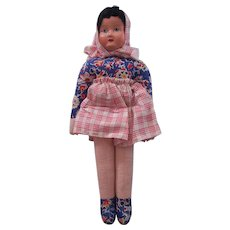 Vintage Cloth Doll from Poland