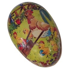 Vintage German Easter Egg Candy Container Paper Mache