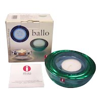 Iittala Finland Ballo Green Candleholder in Box
