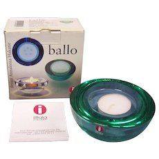 Iittala Finland Ballo Green Candleholder in Box
