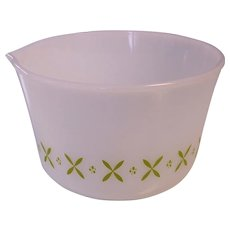 FireKing Mixing Bowl with Green Pattern