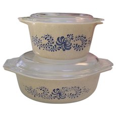 2 Pyrex Homestead Covered Casseroles