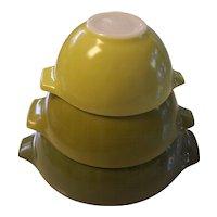 Pyrex Verde Green Cinderella Bowls Set of 3