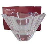 Orrefors Orion Crystal Bowl by Lars Hellsten