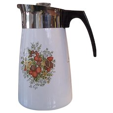 Corning Ware Spice of Life 10 Cup Stove top Coffee Pot