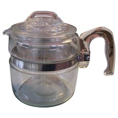 Pyrex Flameware 4 Cup Coffee Pot Complete