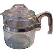 Pyrex Flameware 4 Quart Coffee Pot Complete