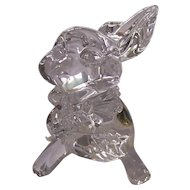 Waterford Crystal Bunny Rabbit Figurine w/ Carrot & Faceted Tail Ireland 3rd Edition