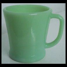 Fire King Jadite Oven Ware D Handle Coffee Mug Flat Bottom Shaving Mug