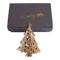 Vint Eisenberg Ice Christmas Tree Pin IOB