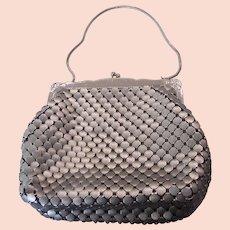 Vintage Whiting & Davis Matte Silver Mesh Purse Evening Bag