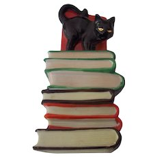Black Cat Halloween Bookend Japan