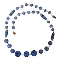 Vintage Czech Glass Bead Hand Wired Necklace