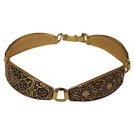 Damascene Domed Link Bracelet