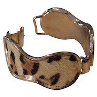 Faux Leopard Skin Bracelet