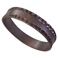 Jorgen Jensen Danish Modernist Pewter Bangle Bracelet