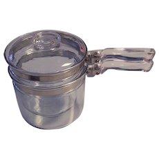 Pyrex Flameware 3 pc Double Boiler 1 1/2 Quart 6283