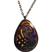 Enamel Book of Kells Pendant on Chain
