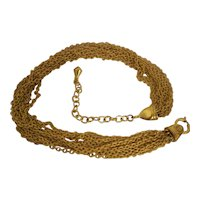 Vintage Carolee Gold tone Multi Chain Necklace