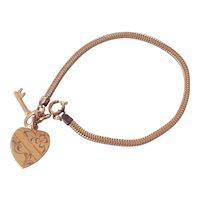 Key to My Heart Gold Filled Sweetheart Charm Bracelet