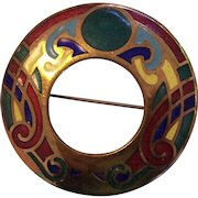 Celtic Enamel Book of Kells Brooch