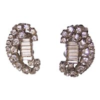 Vintage Kramer Rhinestone Earrings