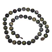 Beautiful Old Cloisonne Bead Necklace