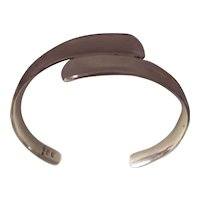 Sleek Sterling Mexican Cuff Bracelet