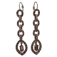 Monet 4 Tier Rhinestone Dangling Earrings