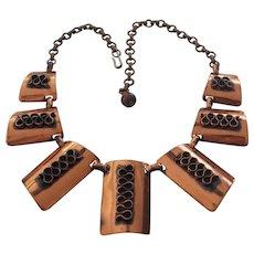 Mid Century Modern Copper Necklace