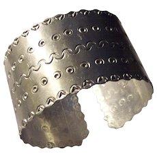 Wide Aluminum Cuff Bracelet Abstract Designs