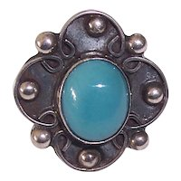 Vintage Mexican Sterling Turquoise Ring Mexico