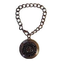 Anne Klein Signature Lion Heavy Charm Bracelet or Key Chain Gold tone
