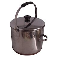Revere Ware 8 Quart Copper Clad Bale Handle Stock Pot Kettle